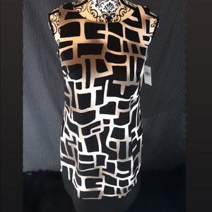 Brand New Black Brown and White Dress | Size 8